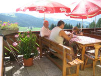 Terrace view of the Koralpe
