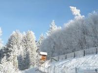 Einfahrt zum Hof-Winter