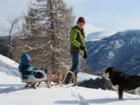 Winter-Familienurlaub mit Hund