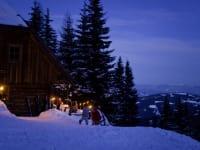 Panoramahütte Winteraussicht aufs Lavanttal
