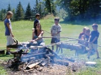 Lagerfeuer mit Steckerlbrot