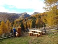Ausblick auf den Falkert in schöner Herbststimmung