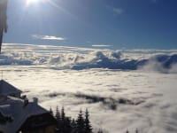 Am Berg bei herrlichen Winterwetter