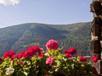 atemberaubende Aussicht auf die umliegenden Berggipfel