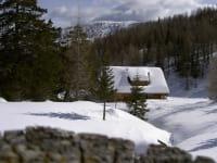 Leebhütte im Schnee