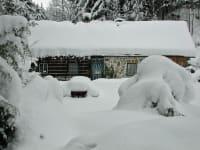 viel Schnee im Winter