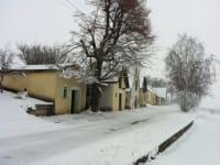 Winterliche Kellergasse