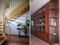 Aufgang Ferienwohnung/Zimmer und Bibliothek - Artner Naturpension