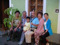 Sehr nette Gäste aus China mit Hermann Gerstbauer