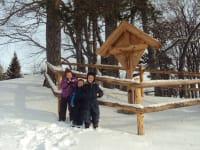 Winter Materl auf Alm
