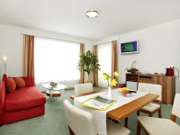 Pension Klug Wohnzimmer große Suite