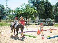 auch die Kleinsten können bei uns erste Erfahrungen im Umgang mit dem Pferd sammelnam Pfer