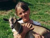 Lisa mit Ziege