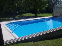 ...oder an heißen Tagen das Dach wegschieben und einen Wasserspaß im Freibad erleben.