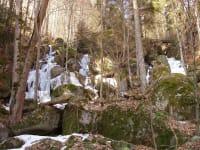 Ysperklamm im Winter mit Eis