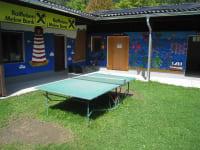 Tischtennis im Freibad in Edlitz