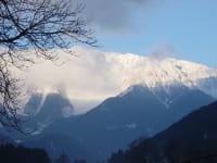 Sicht  auf Schneeberg Winter 1