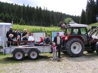 lustige traktorfahrt