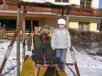 lustige Schifahrer