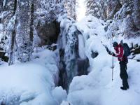 Wasserfall Winter