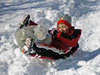Sackerl rutschen - Winterspaß