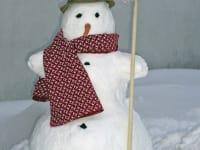 Komm bauen wir einen Schneemann.