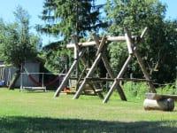 Gartenanlage mit Spielplatz
