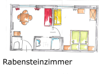 Karhof - Grundriss Rabensteinzimmer