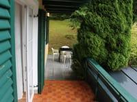 Balkon mit Gartenzugang