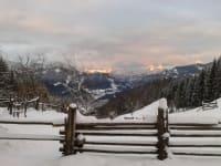 Ferienhaus Zwickelreith - Winteraussicht