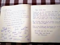 Gästebuch mit netten Einträgen