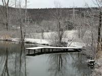 Teich im Winter (Foto: Familie Breitner)