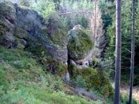 Gesteinsformen bei  der Gletschermühle bei Lembach