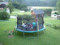 Spaß im Trampolin
