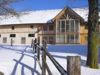 Unser Privathaus im Winter