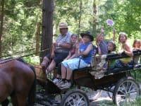 Kutschenfahrt im Sommer-Camp