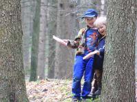 spielen im Wald