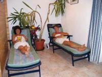 Ruheliegen im Saunabereich