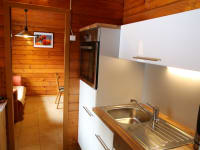 Moderne Küche mit Geschirrspüle im Ferienhaus