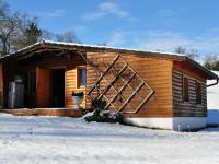 Blockhaus im Winter