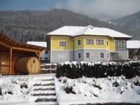 Holzfasssauna-Winter