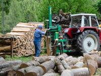 Helmut als Holzarbeiter