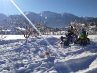 Go-kart-Ausfahrt im Winter