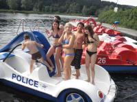 Tretbootfahren am Rannasee