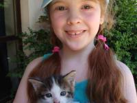 Johanna mit Kätzchen
