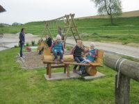 Spielplatz mit neuem Kutschenpferd von Zauner Opa