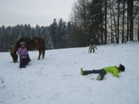 Engerl im Schnee