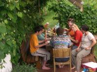 Speisen auf der Terrasse