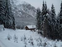 Jagdhütte im Winter