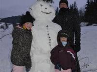 Schneemann im Winter
